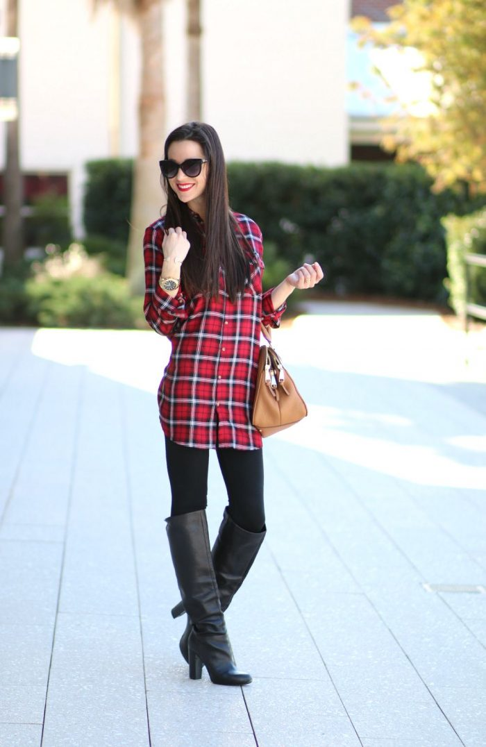 2018 Winter Plaid Print For Women (15)