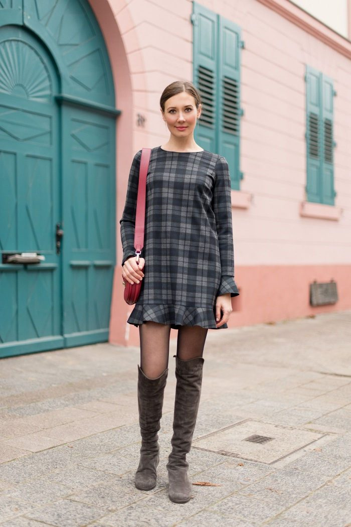 2018 Winter Plaid Print For Women (18)