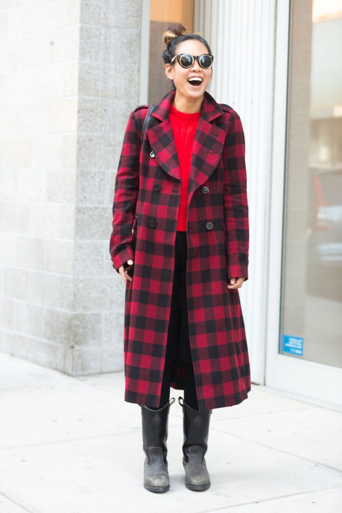 2018 Winter Plaid Print For Women (22)