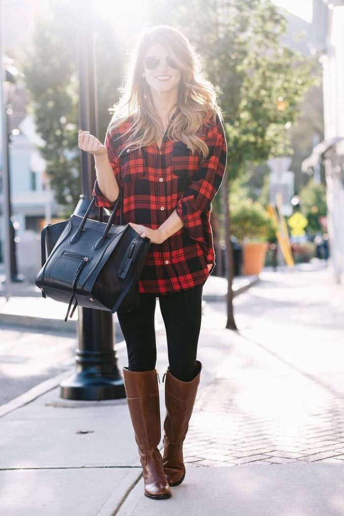 2018 Winter Plaid Print For Women (8)