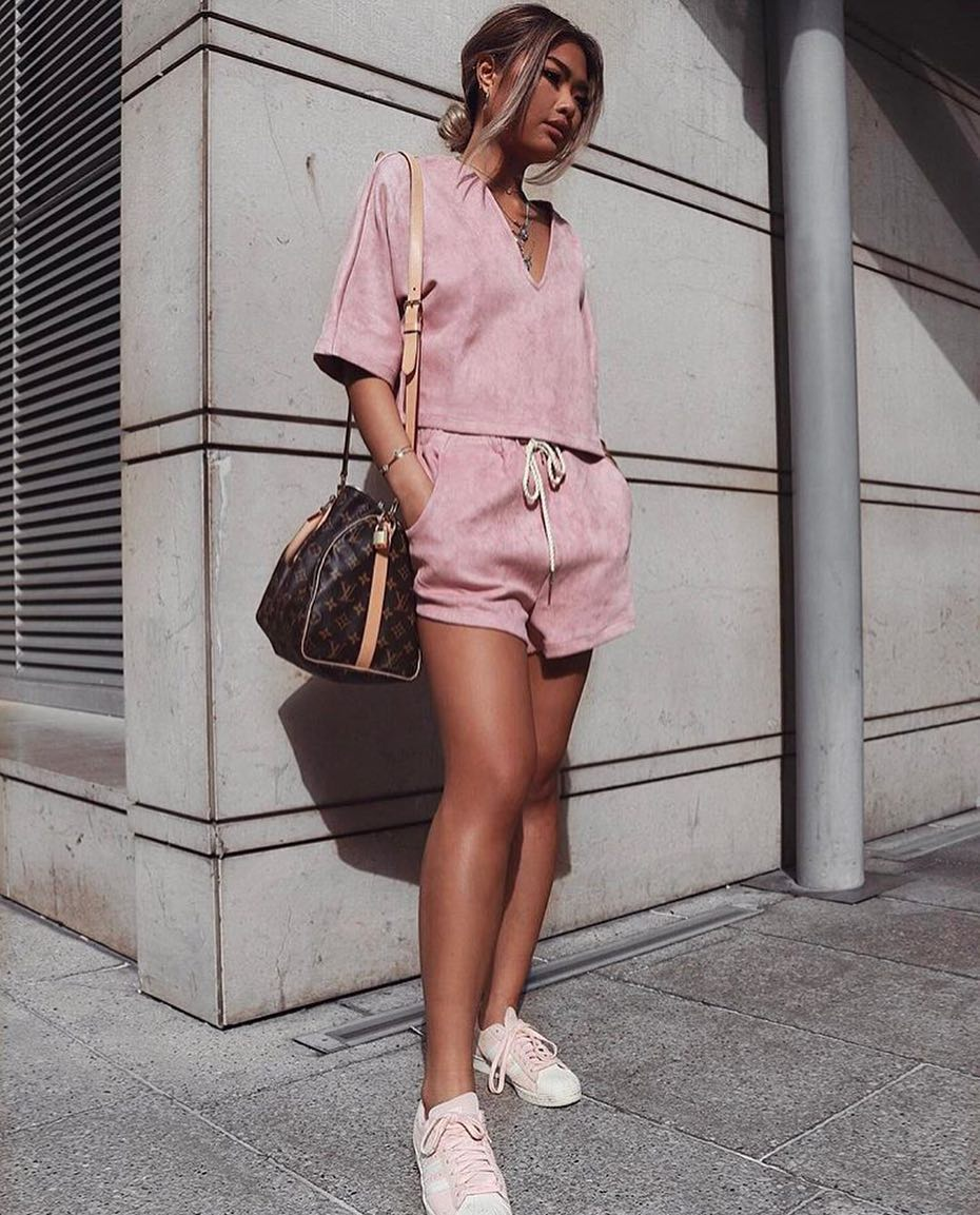 Athleisure Co-ord In Blush For Summer Weekends 2020