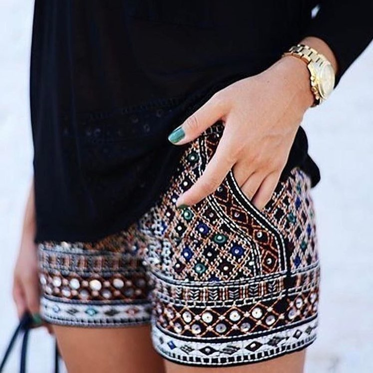 Tribal Print Shorts For Summer 2019