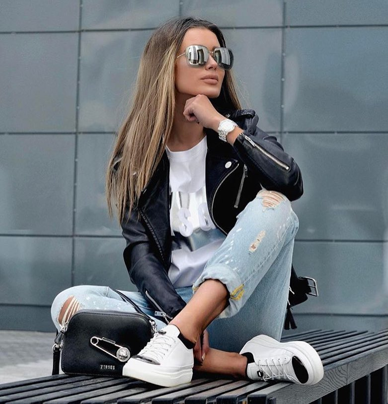 How To Create Sporty Biker Chic Outfit For Spring 2020