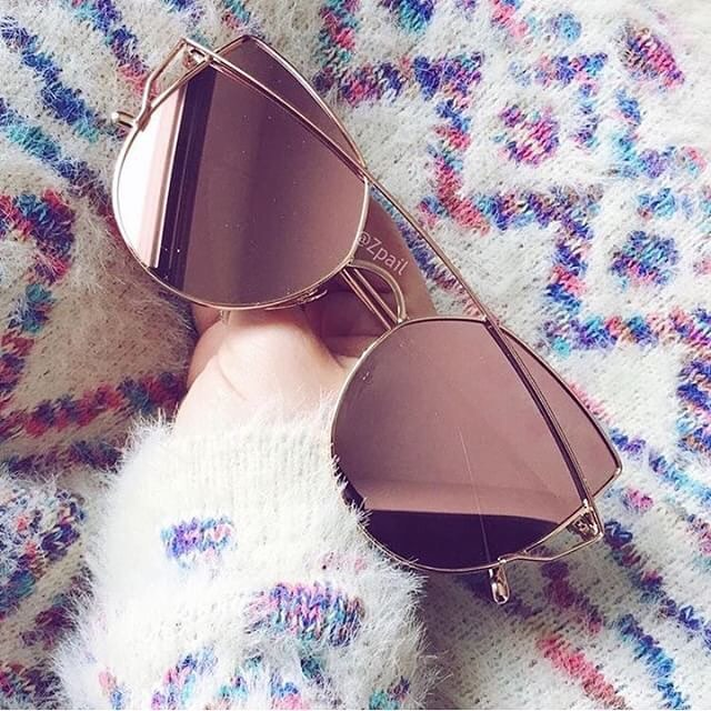Are Mirrored Rounded Cat Eye Sunglasses In Trend Now 2020