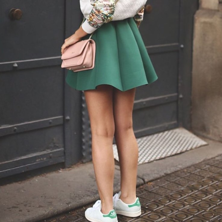How To Wear Flared Mini Green Skirt This Summer 2019