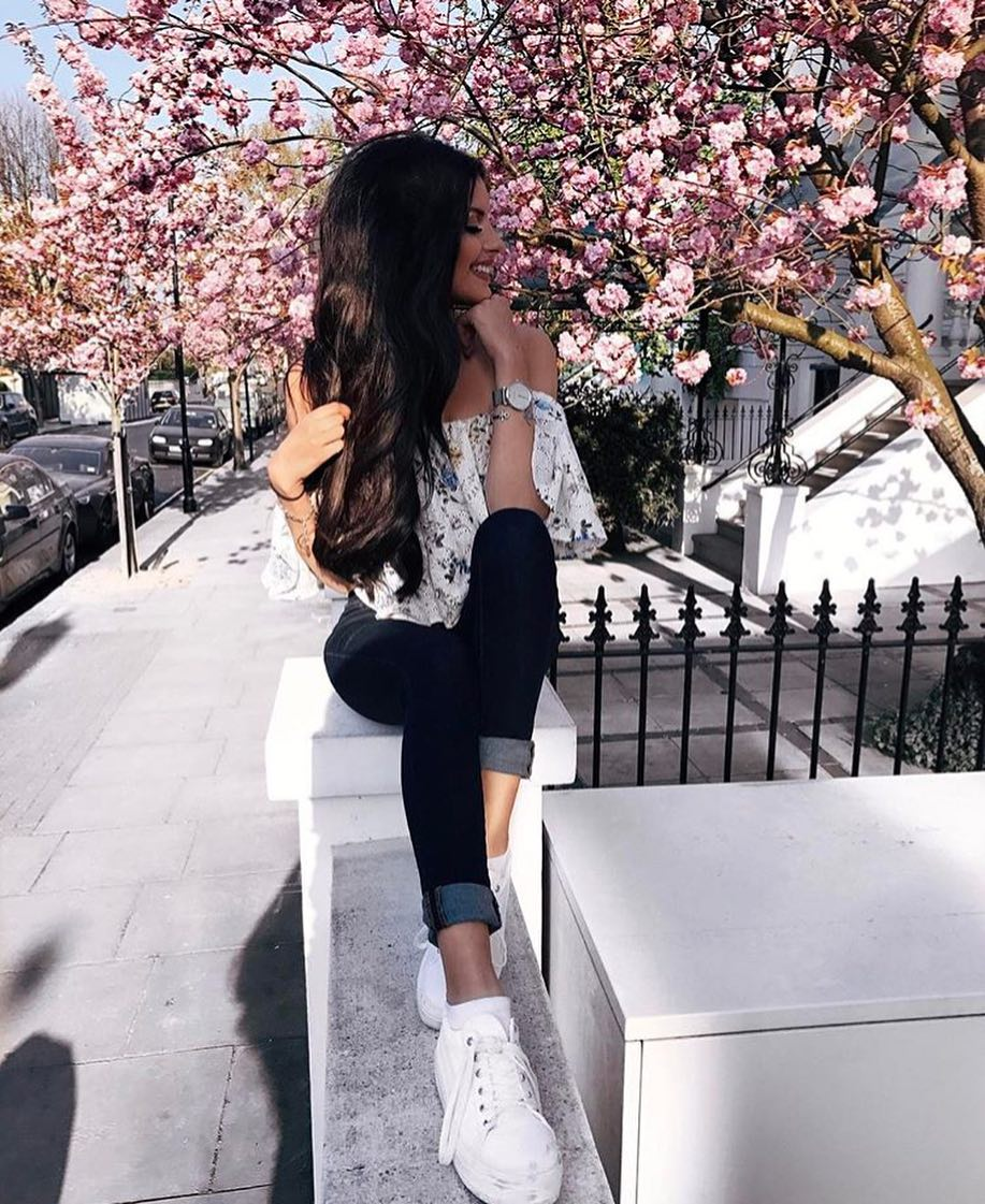 Floral White Off Shoulder Blouse For Summer Casual Days 2019