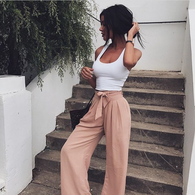 How To Wear Blush Belted Palazzo Pants This Summer 2020