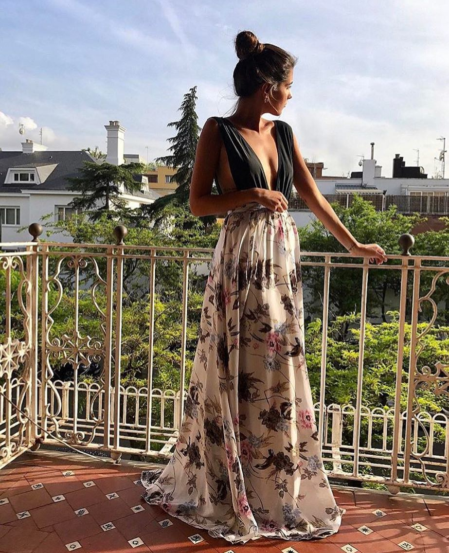 Can You Wear Maxi Dress With Floral Skirt In Paris This Summer 2019