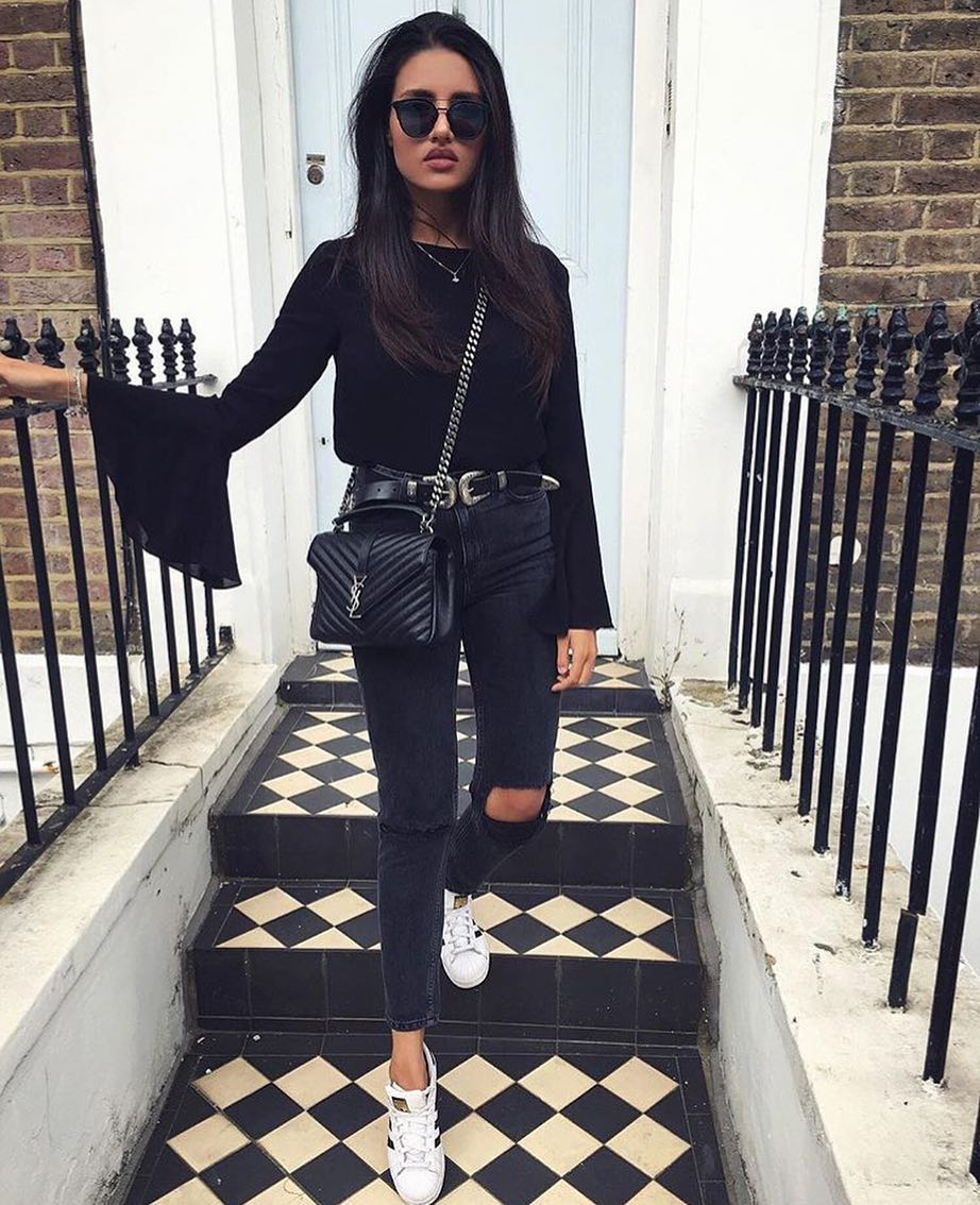 How To Wear Black Top With Bell Sleeves This Spring 2019