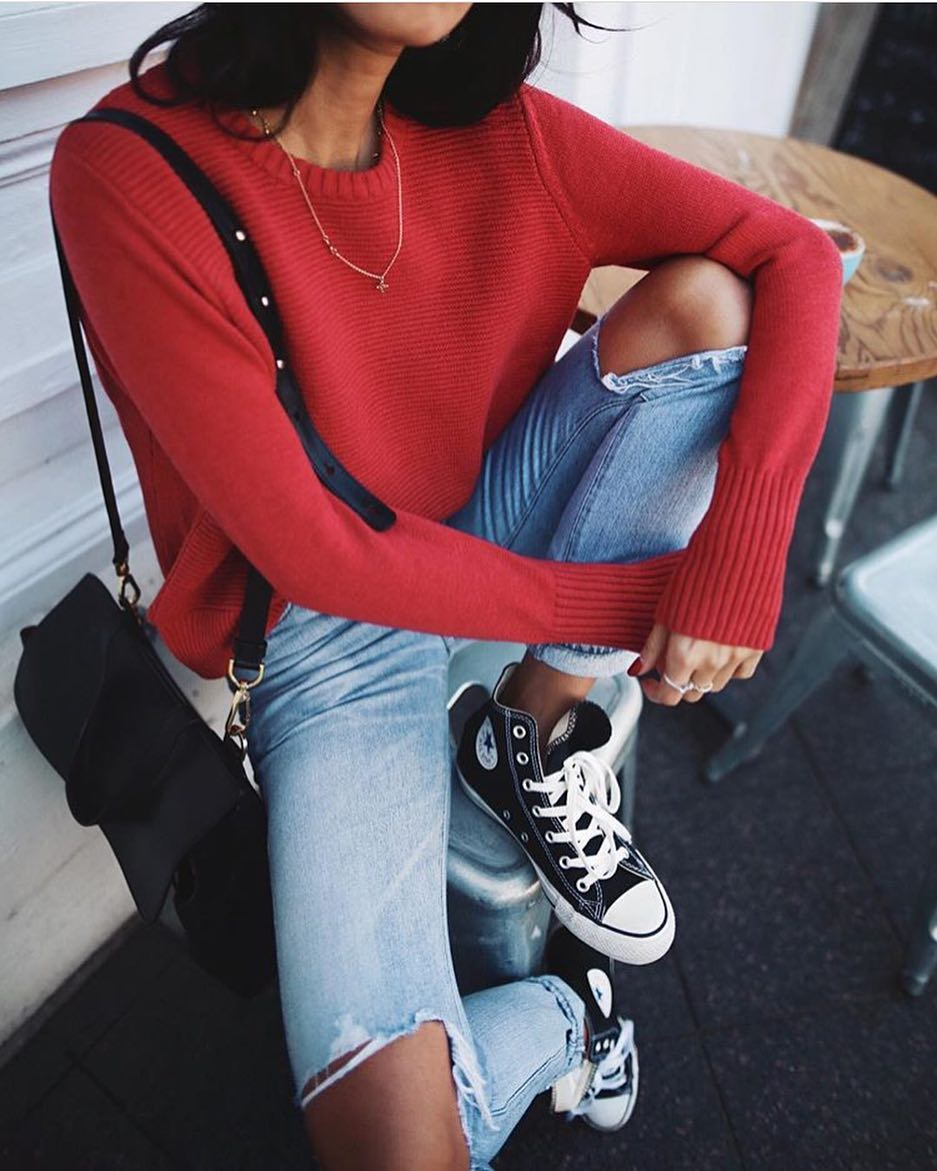 Can I Wear Red Sweater This Spring 2021