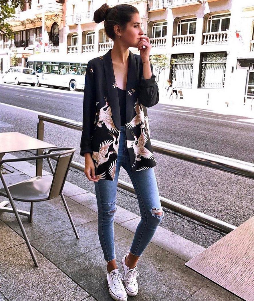 How To Wear Black Stork Print Blazer This Summer 2020