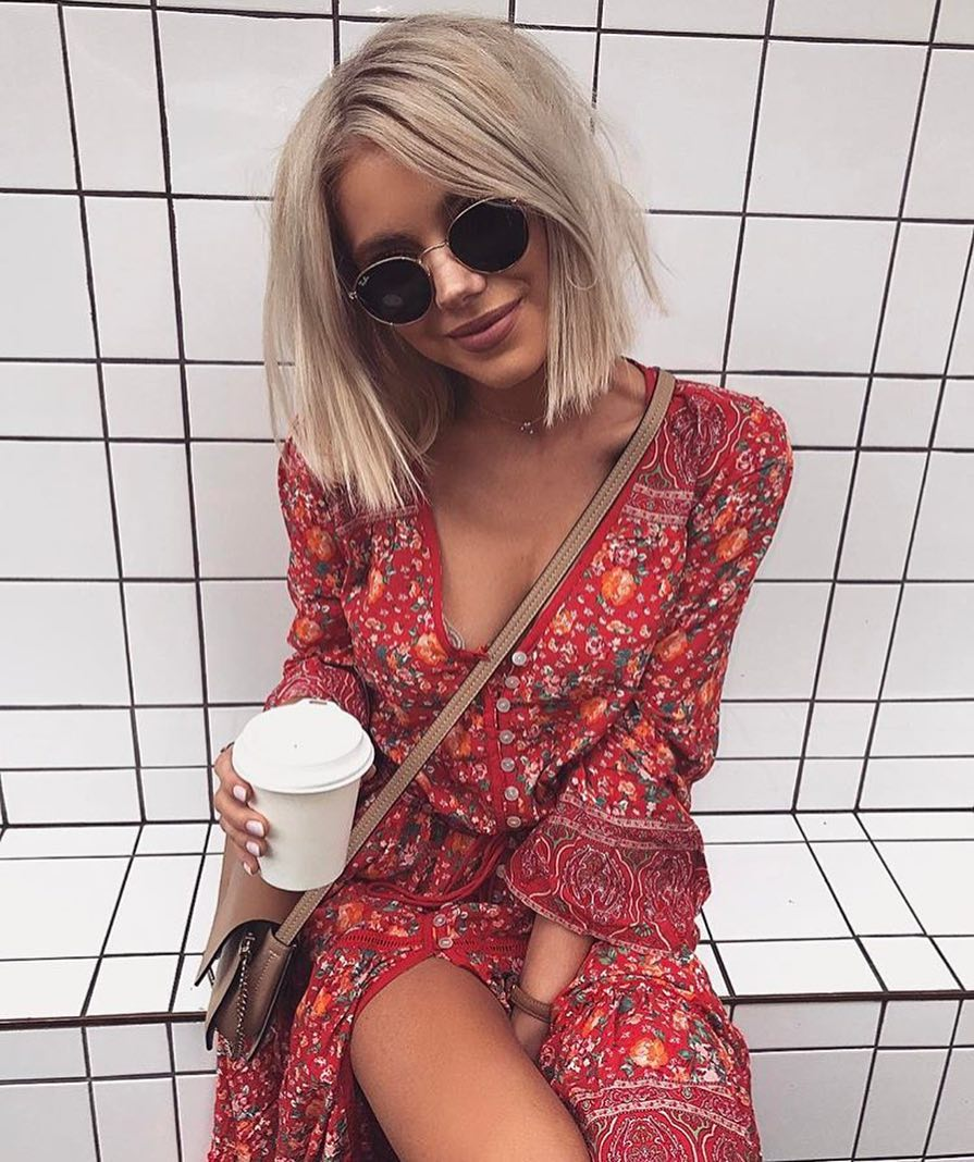 Summer Long Peasant Red Floral Dress For Bohemian Lovers 2020