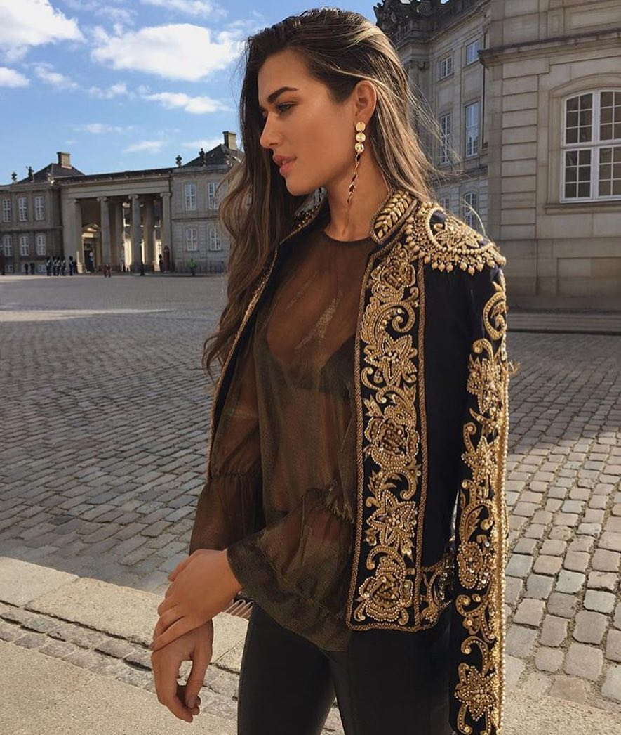 How To Wear Band Jacket Embellished With Gold Floral Brocade 2020