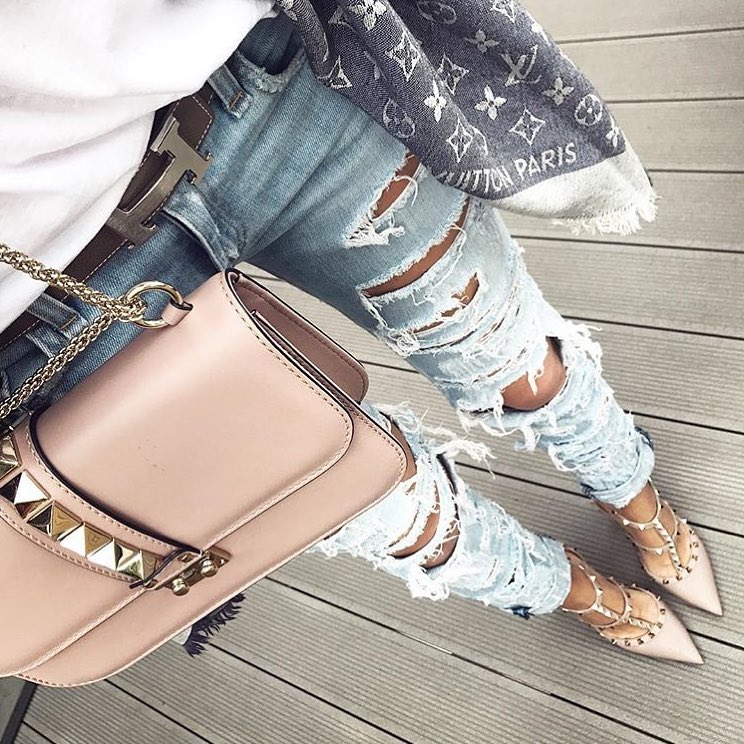 Can I Wear Studded Heeled Pumps With Ripped Jeans This Summer 2019