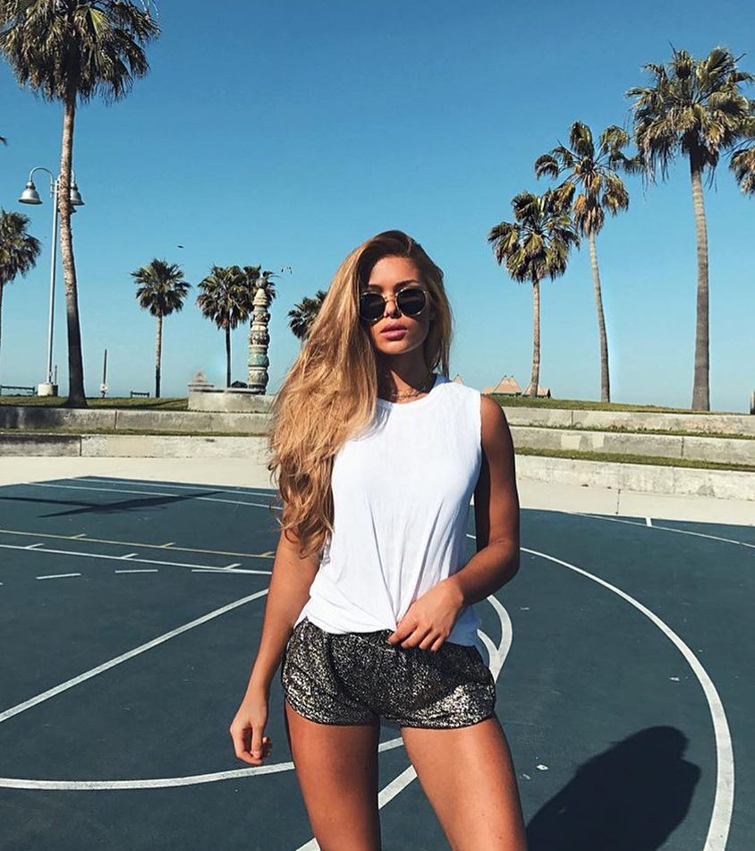 Black Sequin Shorts For Summer Casual Street Walks 2020