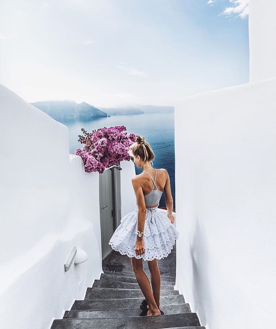 Crochet Ruffle Skirt For Santorini Summer Vacation 2019