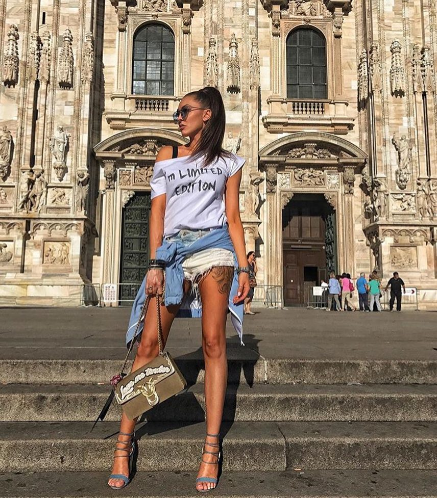 Slouchy Top, Denim Cut Offs and Strappy Sandals For Casual Summer Vacation 2019