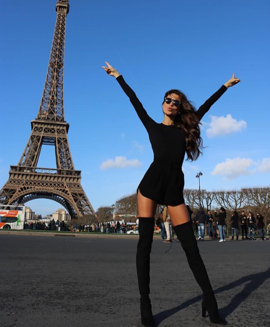 How To Wear LBD With Black OTK Boots During Your Stay In Paris 2020