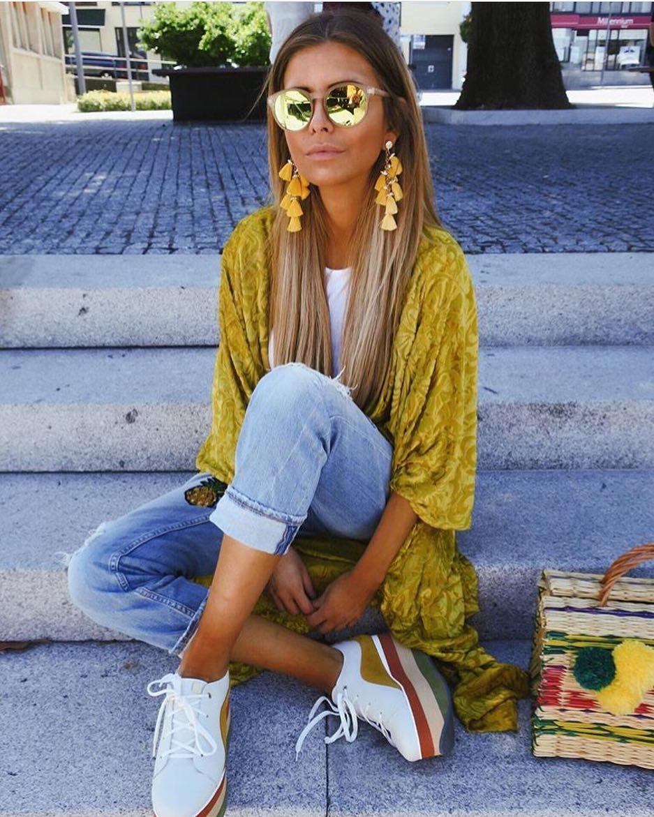 Mustard Velour Kimono Cardigan For Summer 2019