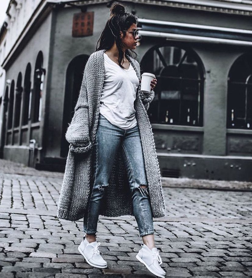 How To Wear Oversized Grey Maxi Cardigan This Spring 2019