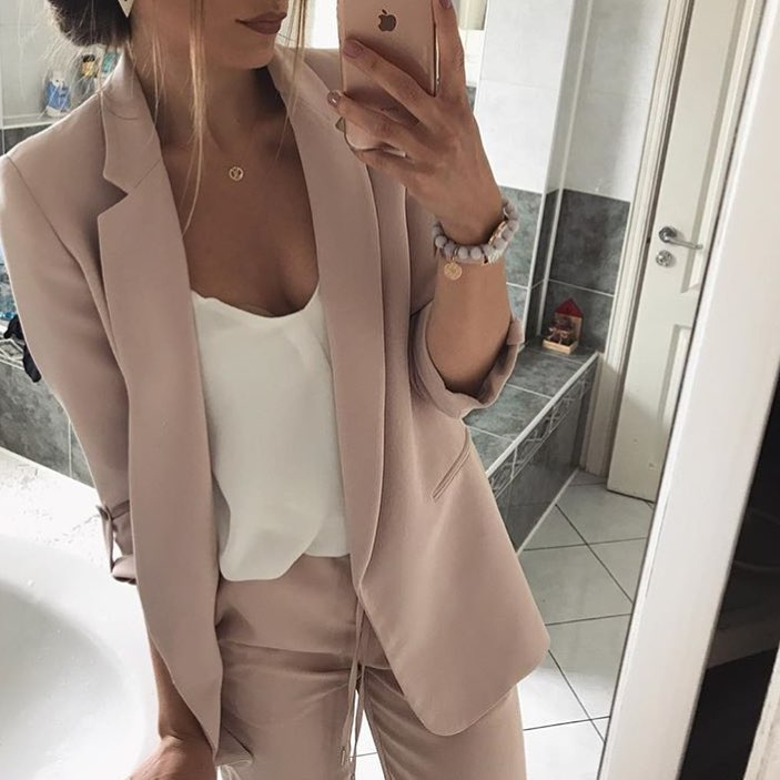 How To Style Blush Pantsuit For Summer 2020