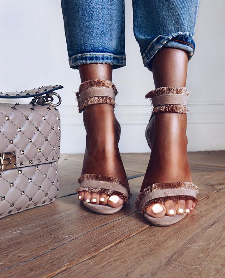 Dark Blush Heeled Sandals For Summer 2021
