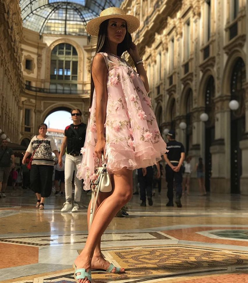 A-line Layered Tulle Shift In Blush For Italian Summer Walks 2020