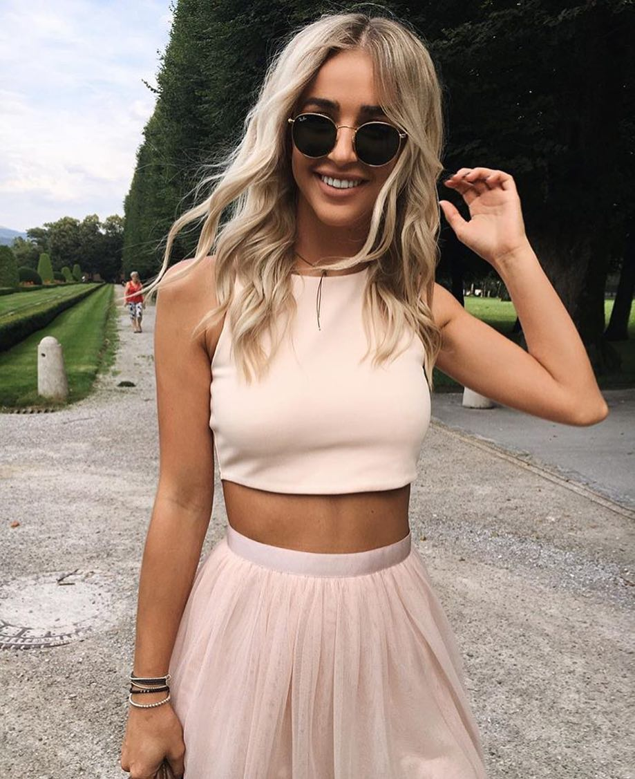 Two Piece Dress In Blush For Summer Garden Parties 2019