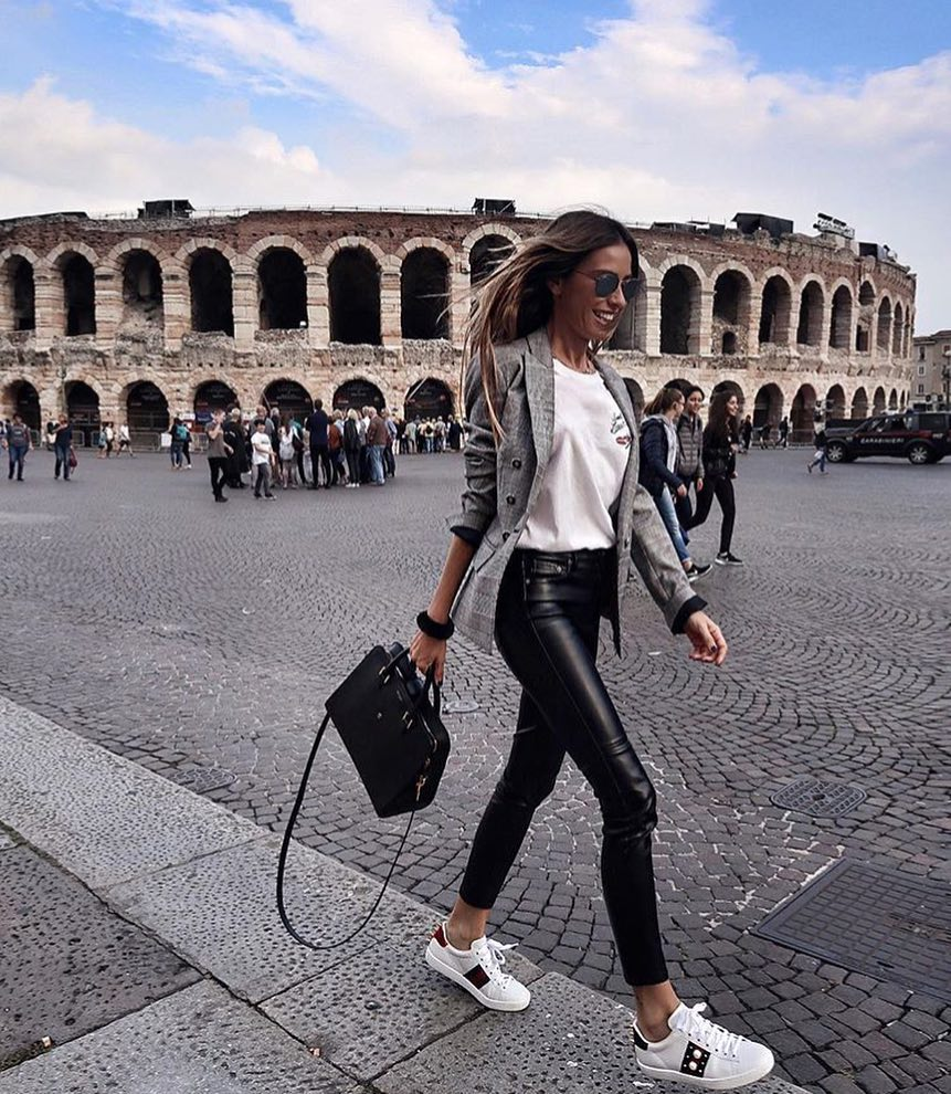 How To Wear Black Leather Pants In Italy This Summer 2020