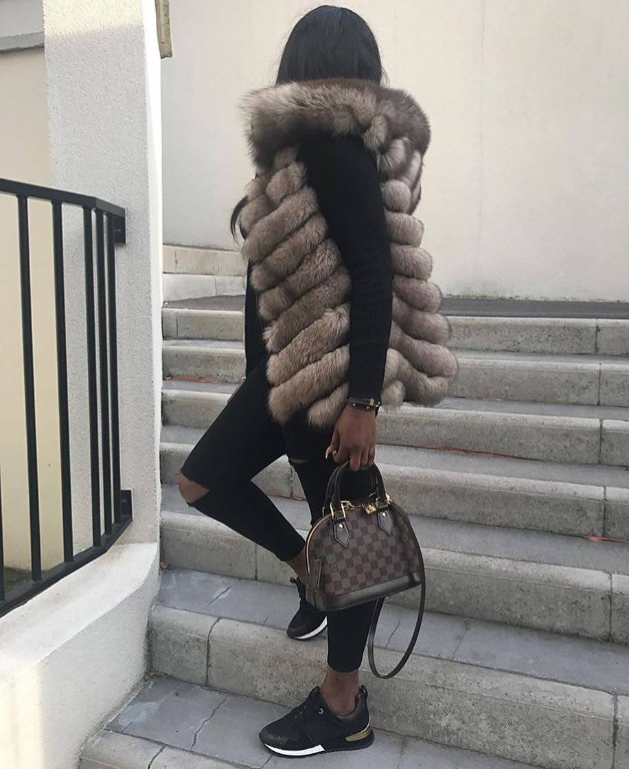 Quilted Fur Vest And All Black Look For Fall 2020