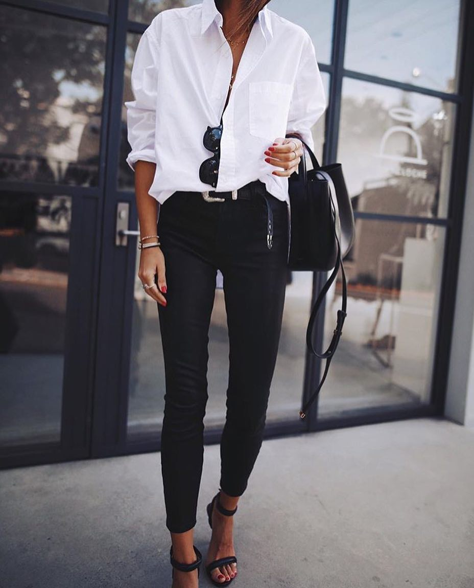 Black White Look For Office Spring Season 2019