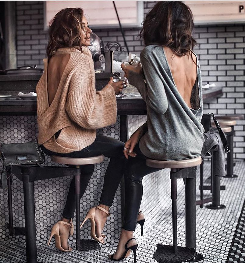 Open Back Sweaters For Fall Casual Parties 2019