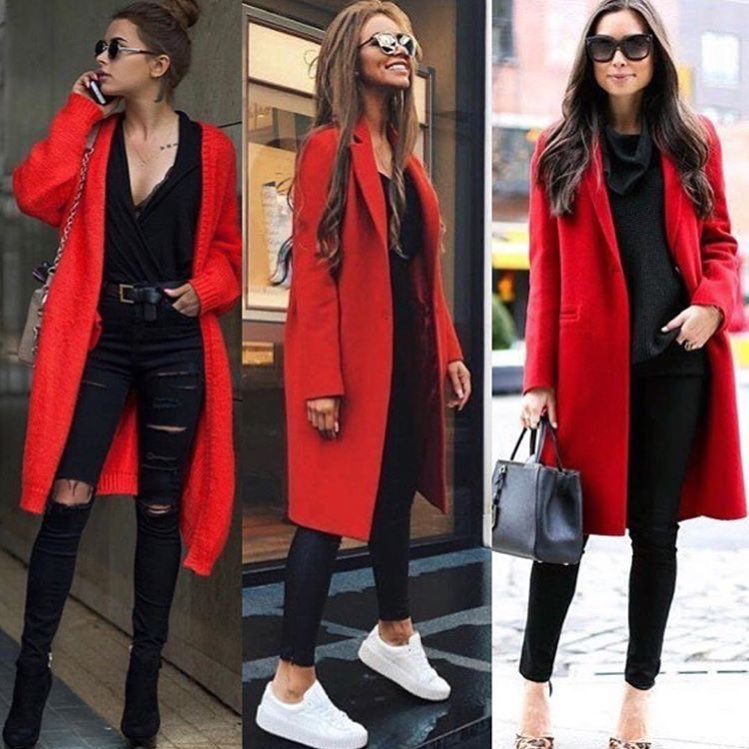 How To Wear Red Coats This Fall For Women 2019