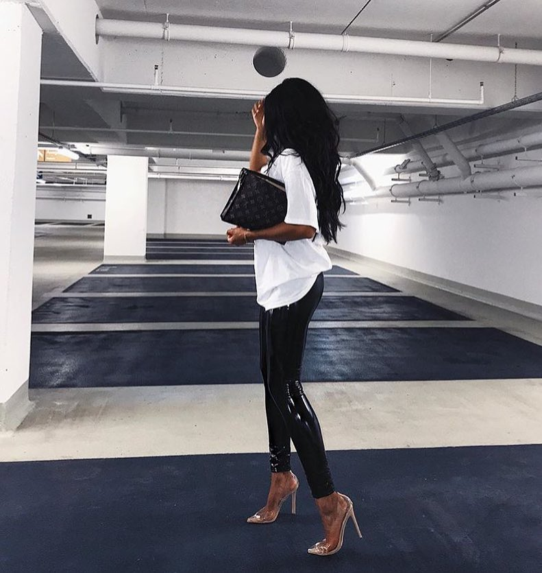 How To Style Patent Black Skinny Leather Pants This Fall 2020