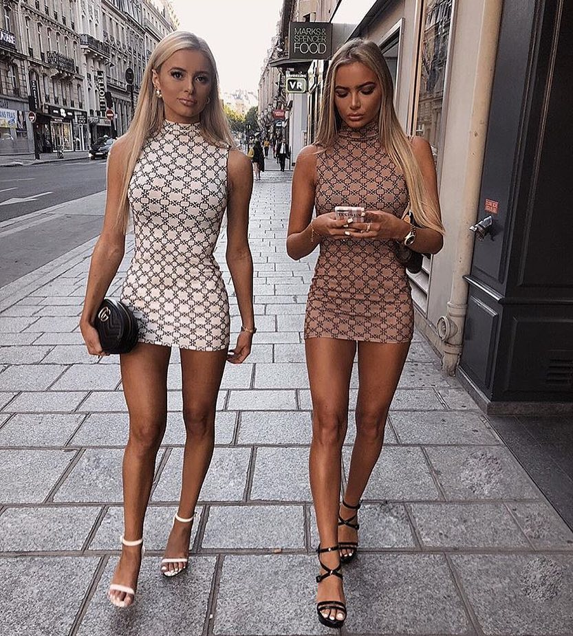 Mini High Neck Sleeveless Dress In Luxe Pattern For Summer 2020